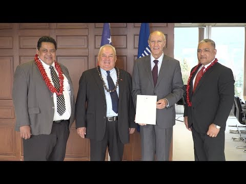 WIPO Director General Meets Samoa's Minister for Commerce, I