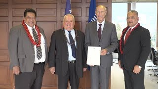 WIPO Director General Meets Samoa's Minister for Commerce, Industry and Labor