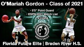 O'Mariah Gordon (Basketball on the Bayou Highlights) - Florida Future Elite/Braden River 2021 PG
