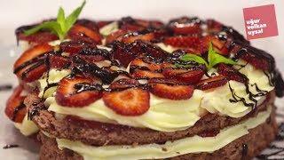 Çilek Rüyası Kalp Şeklinde Mükemmel Pasta Tarifi (Evde Pasta Tarifi)