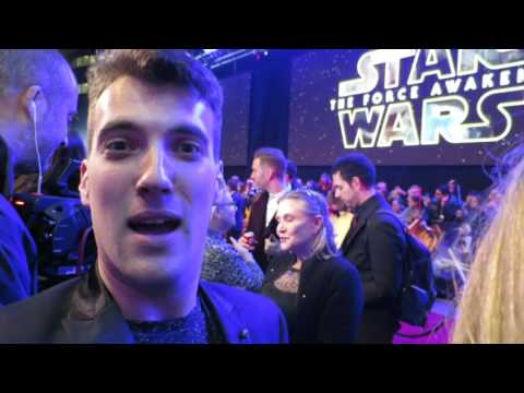 Star Wars: The Force Awakens London premiere - red carpet action
