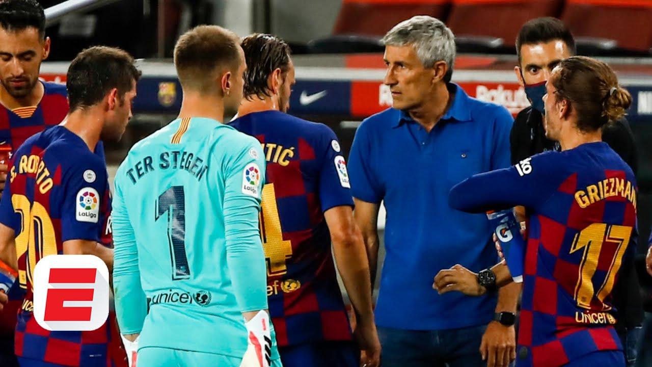 Is Quique Setien to blame for Barcelona's 'lethargic' effort against Espanyol? | ESPN FC