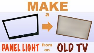 Make a light 💡 from an old TV 📺
