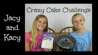Crazy Cake Challenge ~ Jacy and Kacy
