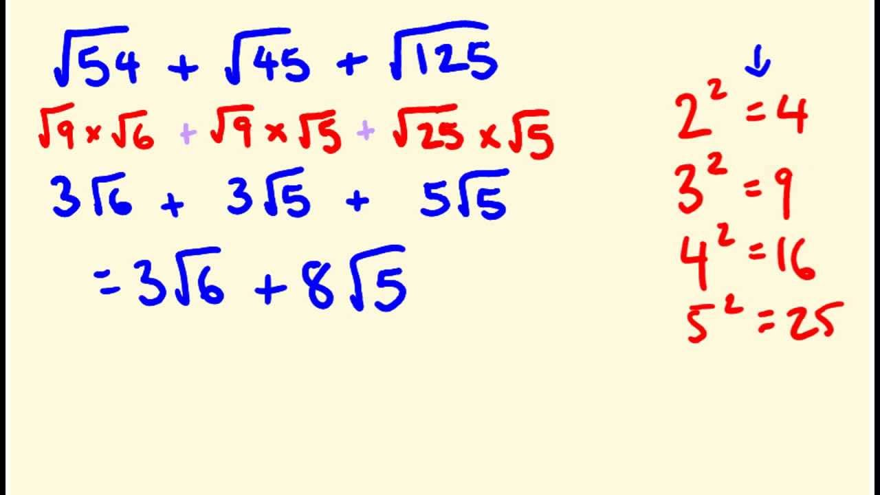 adding and subtracting surds pdf