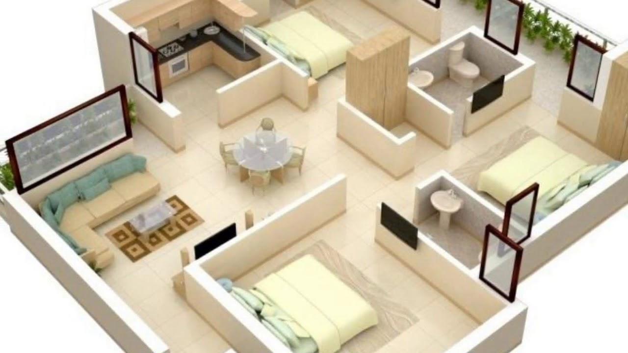 3bedroom House Plans Indian Style Novocom Top