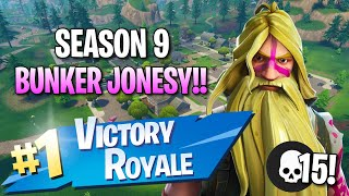 "Season 9 ""Bunker Jonesy"" Skin!! 15 Elims!! - Fortnite: Battle Royale Gameplay"