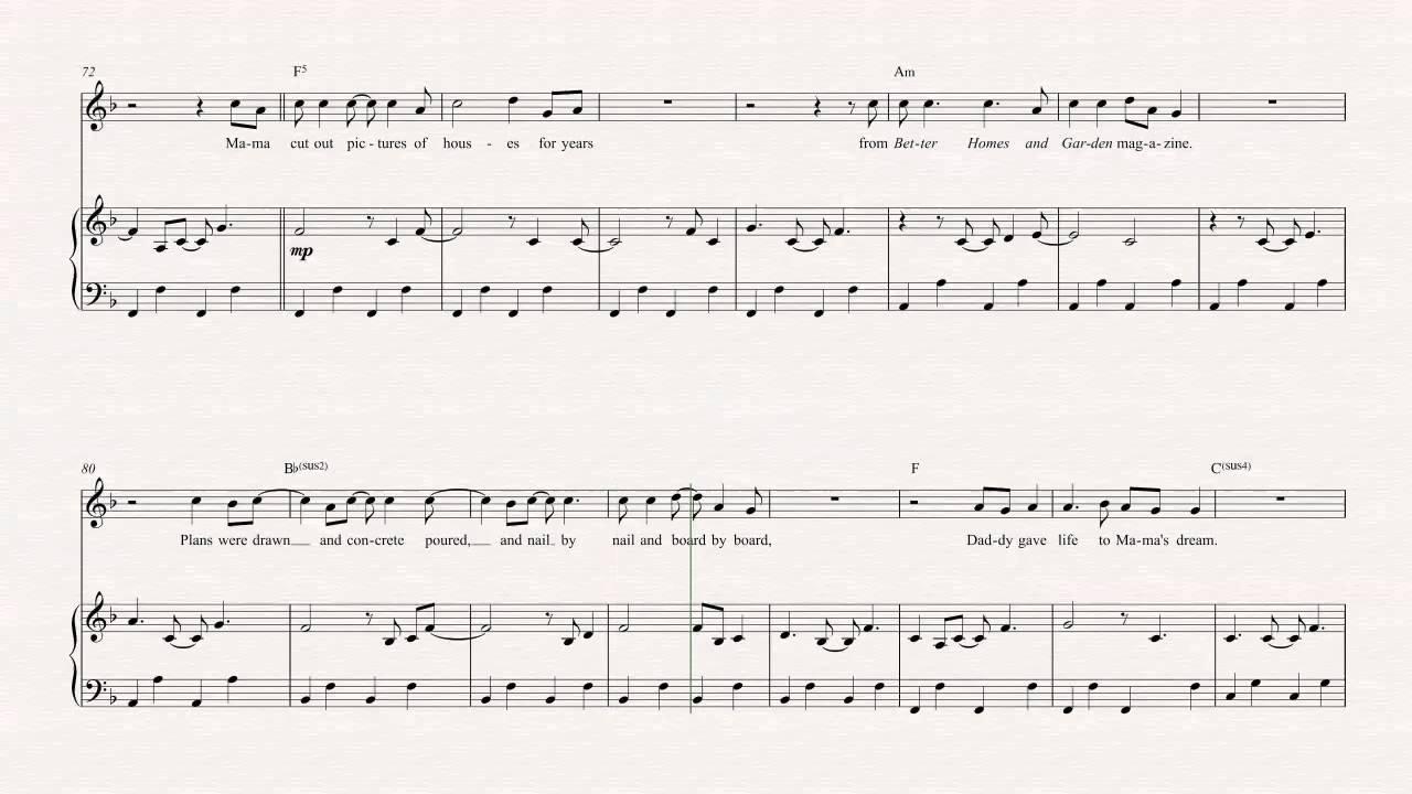 Oboe   The House That Built Me   Miranda Lambert   Sheet Music, Chords, &  Vocals