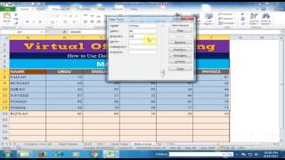 How to Use Data Entry Form in Microsoft Excel : Excel Tips and Tricks