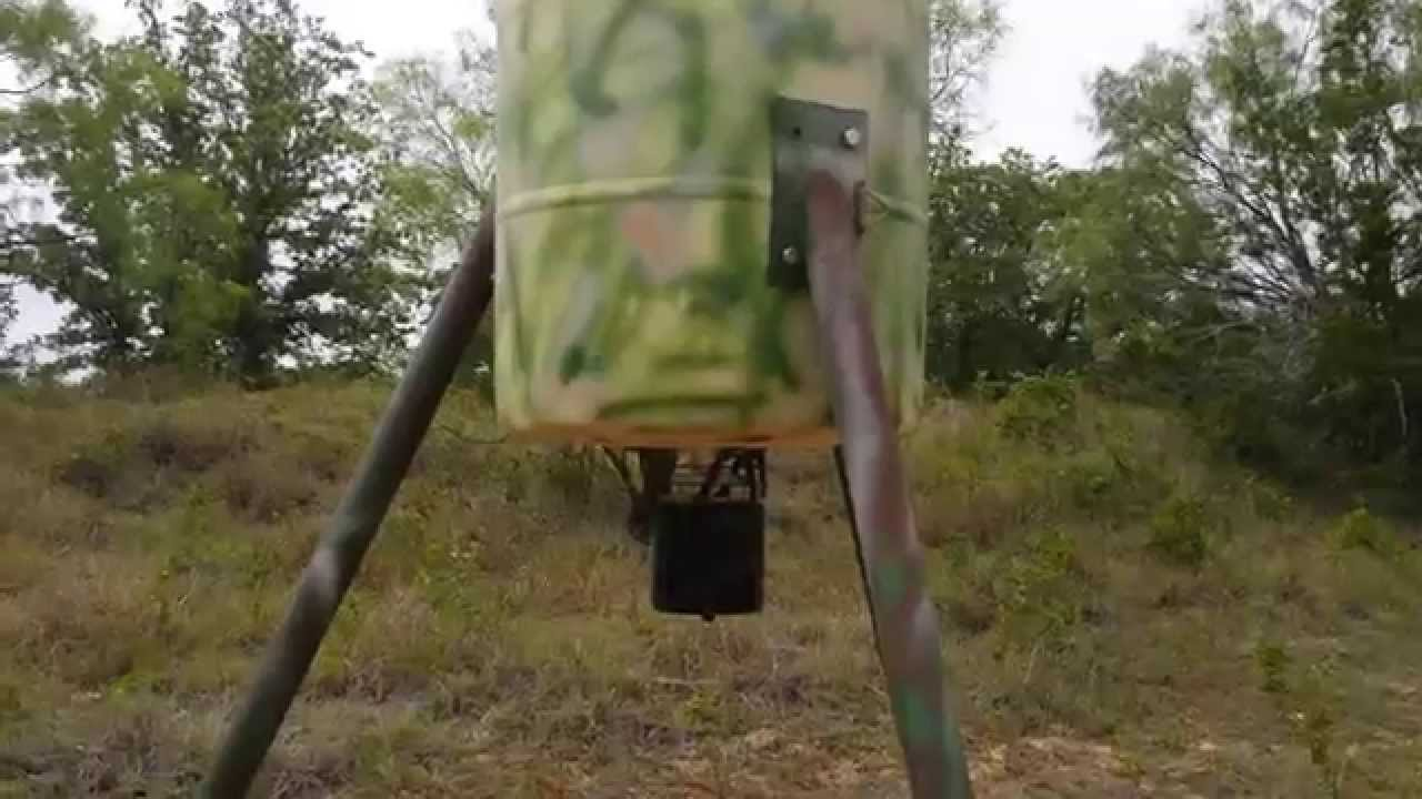 Build your own homemade deer feeder