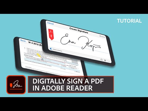 How to Digitally Sign a document with Adobe Reader - YouTube