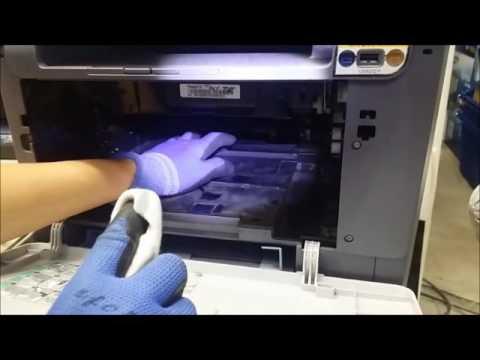 how to clean printerhead fuji cp105b
