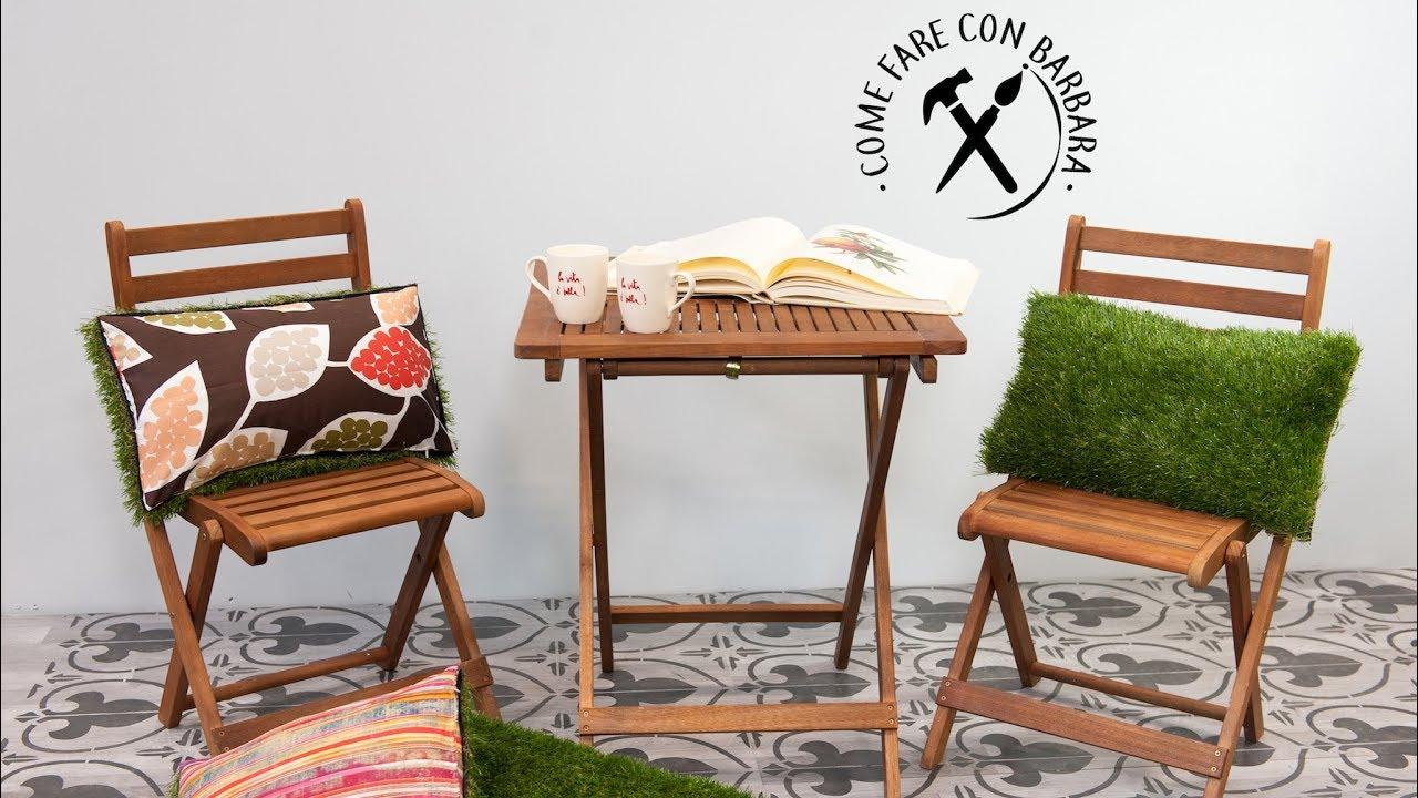Decorare un cuscino con l erba sintetica obi