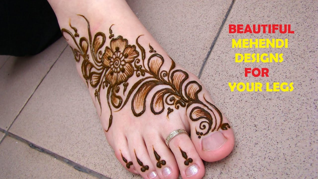 Mehndi Legs Images : Mehendi designs for your feet and legs slot youtube