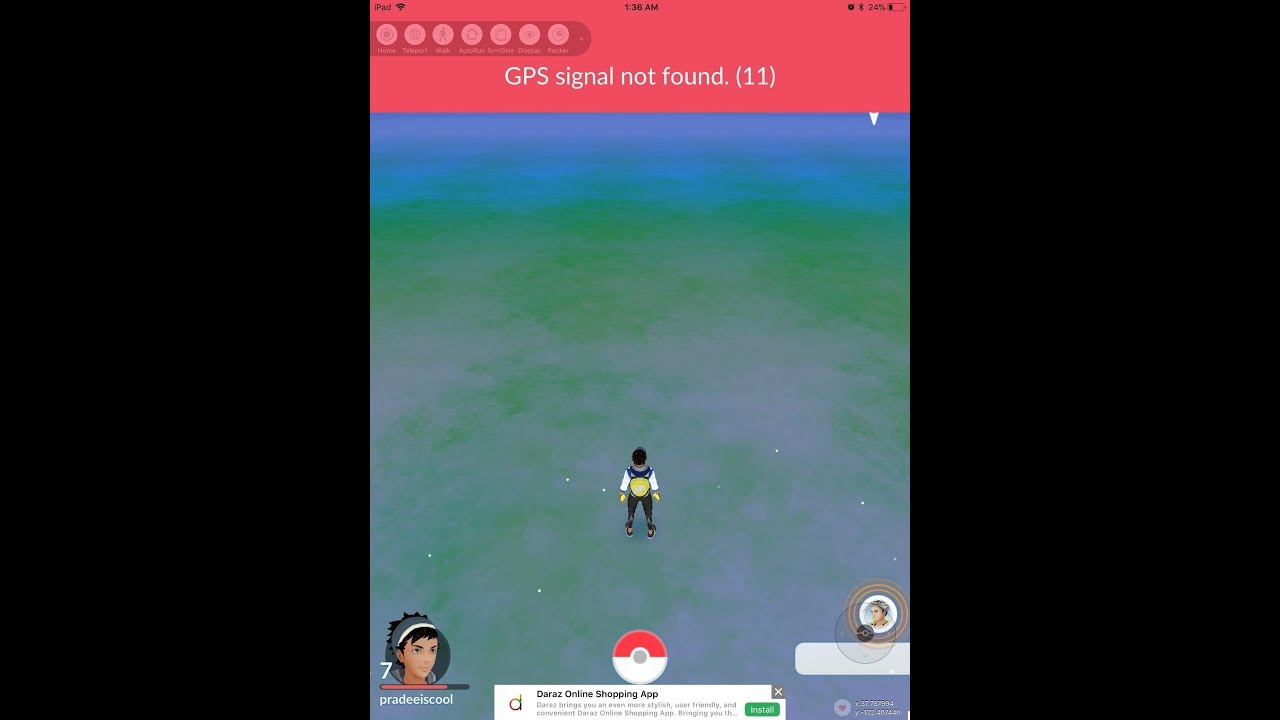 PokemonGo Hack Сигнал GPS не найден 11 ошибка Fix 2018