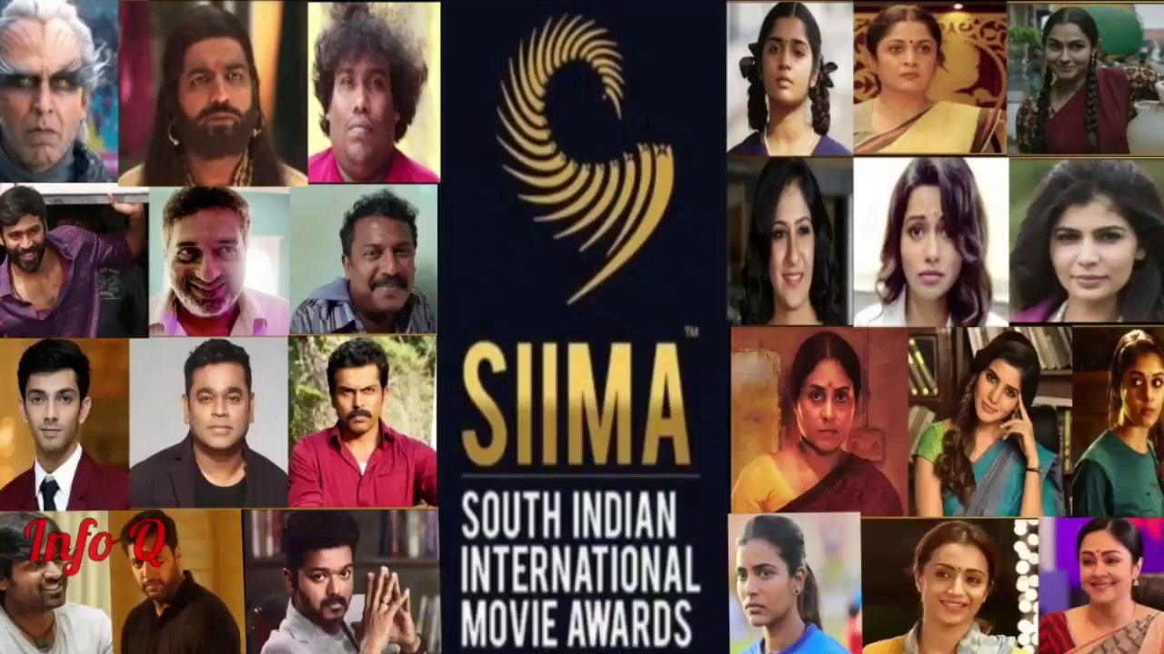 SIIMA Awards 2019 | South Indian International Movie Awards | Tamil  Industry Nominations | Info Q