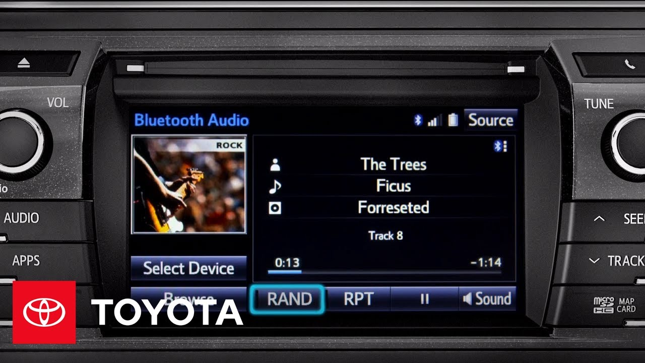Toyota Corolla Owners Manual: Connecting a Bluetooth audio player