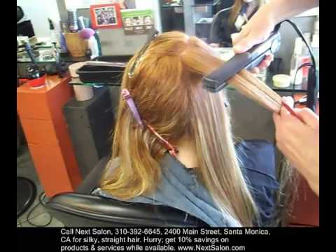 How To Straighten Hair Los Angeles Japanese Straightening Way Youtube