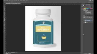 photoshop tutorial create a mock up for a product label using smart objects