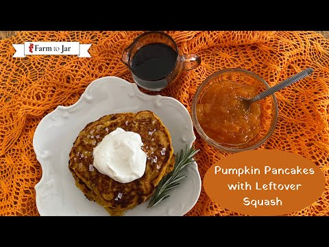 Pumpkin Pancakes made with Leftover Squash (includes sheet pan pancakes)