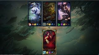 1 Challenger Player vs. 3 Silver Players (1v3) - League of Legends