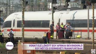 Vonat elé lökött egy afrikai bevándorló egy nőt és gyermekét Frankfurtban