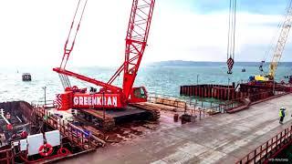 Крымский мост Железнодорожный мост морская часть