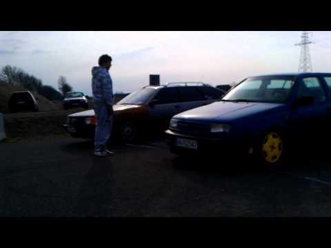 Audi 100 C3 2.3 vs VW Vento 1.8 Augustów obwodnica