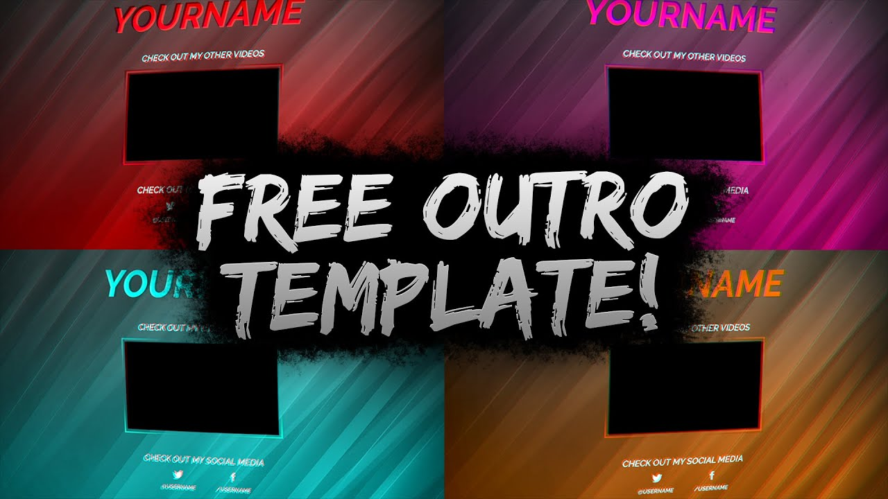 Clean free outro template psd free download free gfx for Free outro template