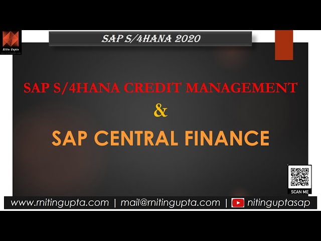 SAP Central Finance & Credit Management