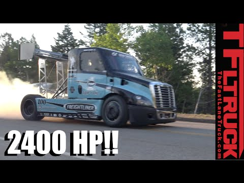2,400 HP Freightliner Pikes Peak Hill Climb Race Truck Is Porsche Quick!