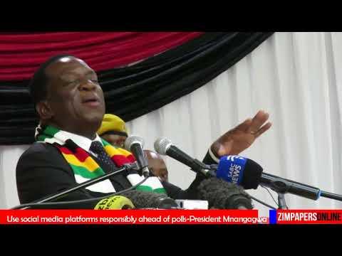 PRESIDENT Mnangagwa addresses Zanu-PF Youth League national assembly