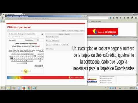 Como sacar la tarjeta de coordenadas del banco de for 0banco de venezuela