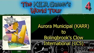 (DOS) Flight Simulator 3: Aurora Municipal (KARR) to Clow Intl (1C5) || KILR Gamer's World Tour