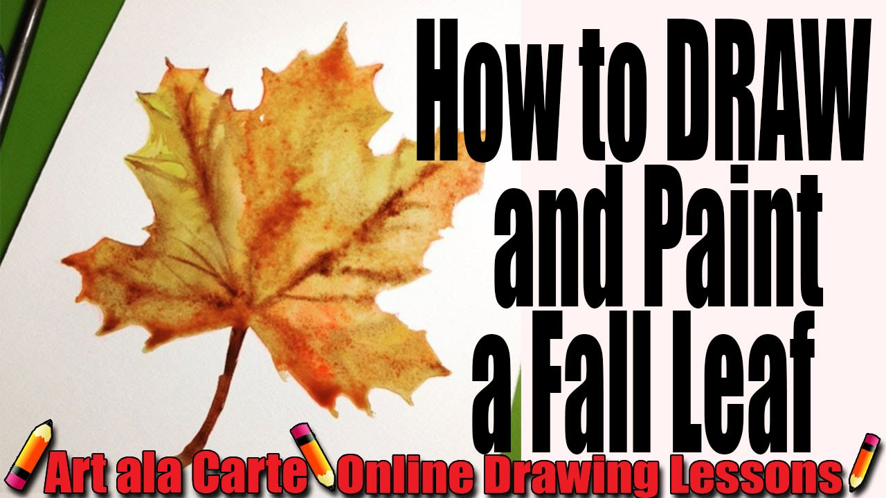 - How To Draw A FALL LEAF - YouTube