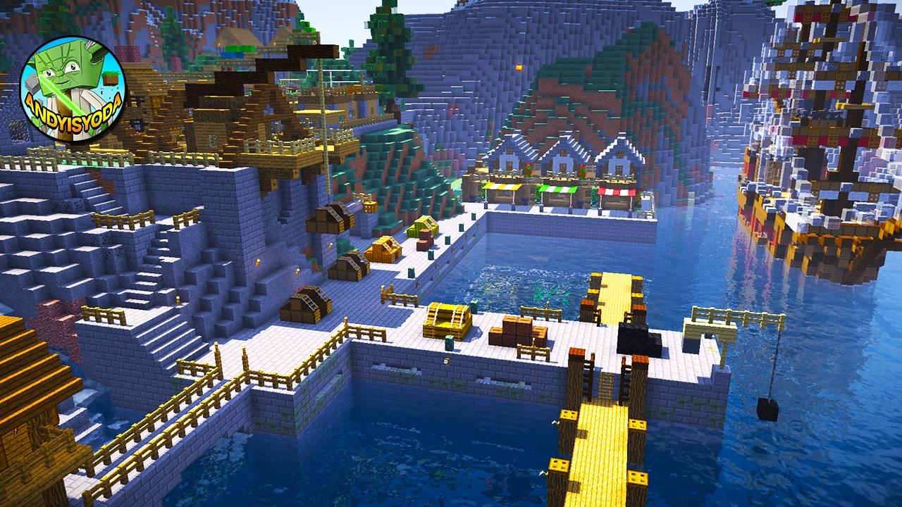 Minecraft Creative Tips Tricks: How To Add A Dock To A Minecraft Village (creative)
