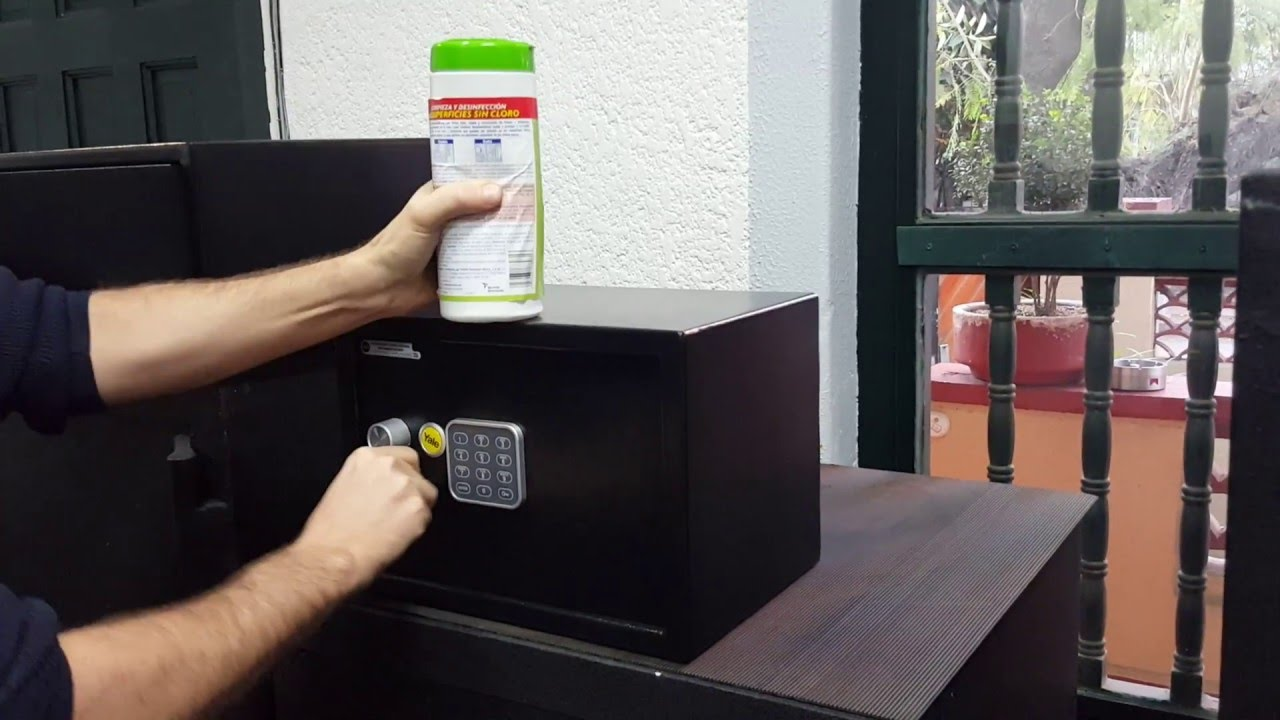 como abrir una caja fuerte de llave y combinacion electronica