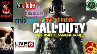 COD Infinite Warfare LIVE! Troll Gets ROASTED! (EVIL DJ on YouTube,Twitch and Mixer)