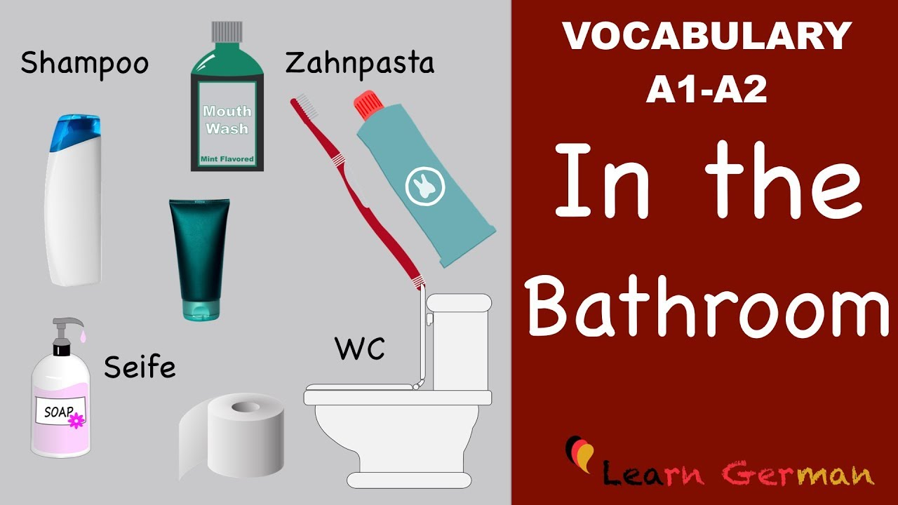 learn german | german vocabulary | im bad | in the bathroom, Badezimmer ideen