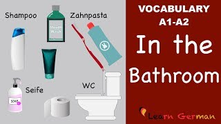Learn German | German Vocabulary | Im Bad | In the bathroom | Badezimmer | A1