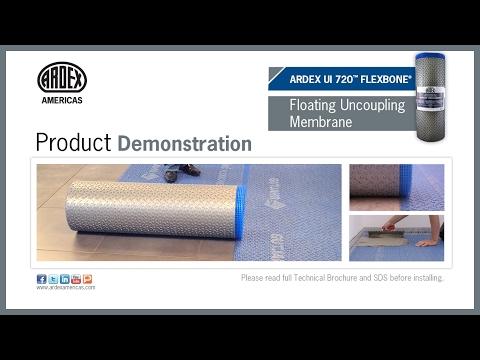 ARDEX UI 720™ FLEXBONE® - Floating Uncoupling Membrane - Demonstration