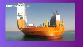 أرشيف قناة السويس الجديدة  ديسمبر2014 وصول أكبر ناقل بحرى فى العالم