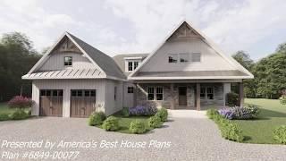 Modern Farmhouse Plan 6849-00077