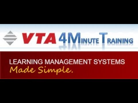 Managing Training Areas and Subjects in the VTA Catalog