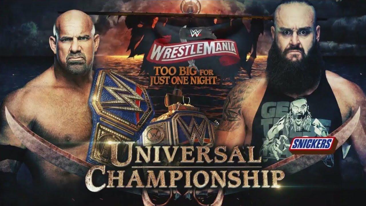 WWE 2k20 Gameplay Goldberg Vs Braun Strowman Universal ...