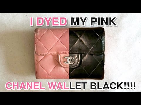 HOW I DYED MY PINK CHANEL WALLET BLACK!!!