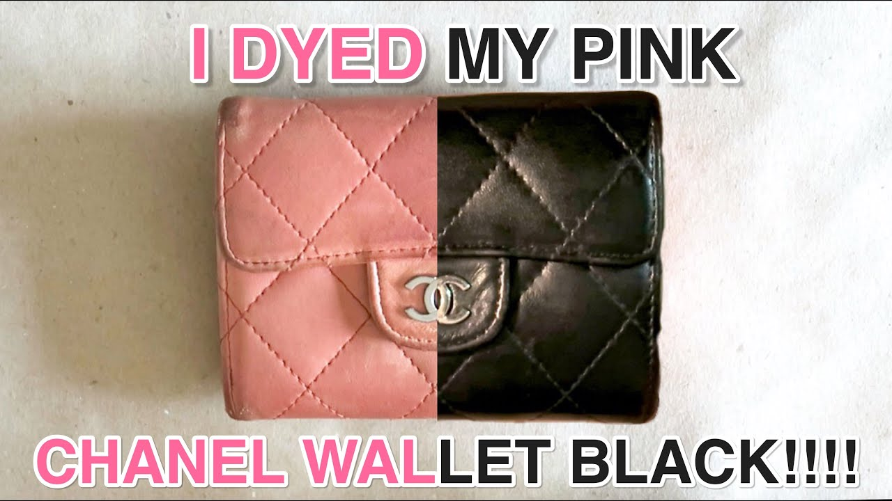 a87bc70a1488 HOW I DYED MY PINK CHANEL WALLET BLACK!!! - YouTube