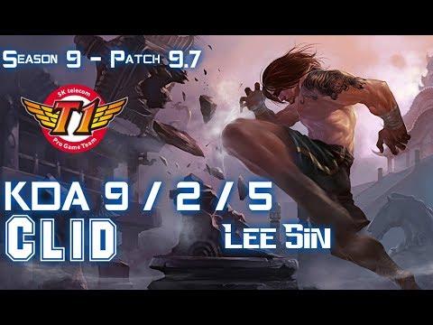 SKT T1 Clid LEE SIN vs KINDRED Jungle - Patch 9.7 KR Ranked