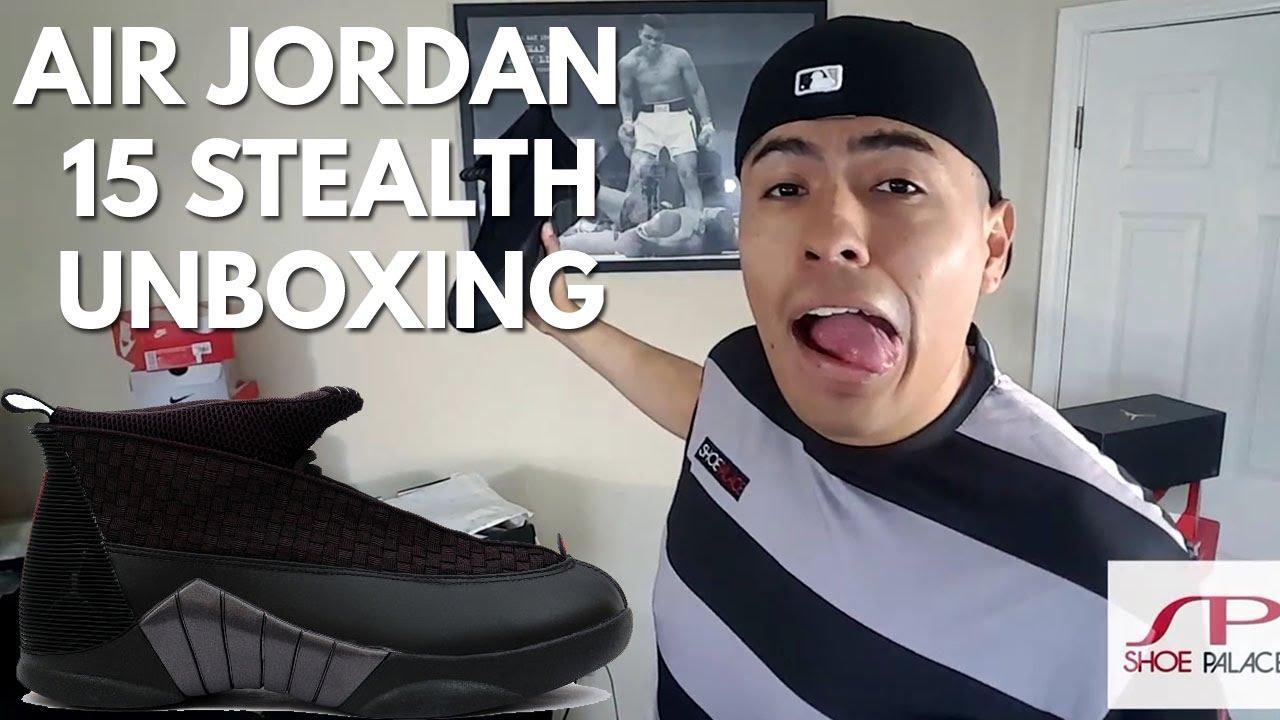 44d919a1723190 Air Jordan 15 Stealth Unboxing - YouTube
