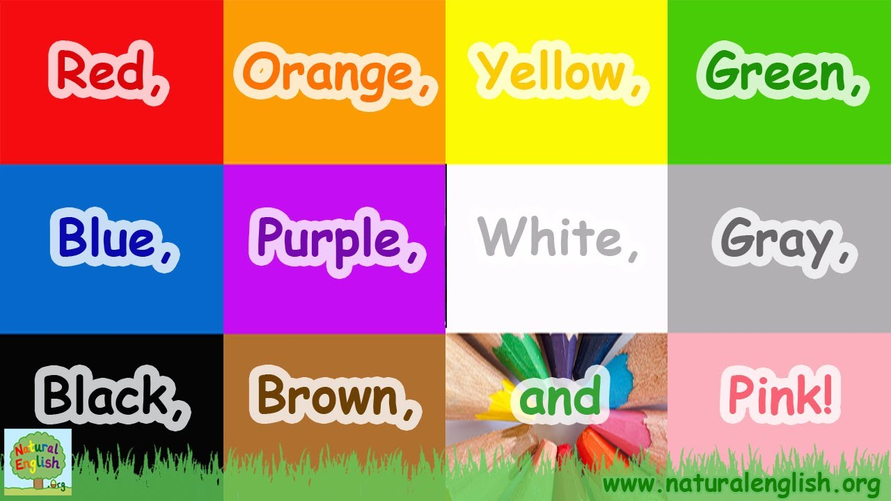 the colors song learn the colors colours simple learning for children by natural english youtube